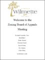 Icon of Zoning Board Welcome Document