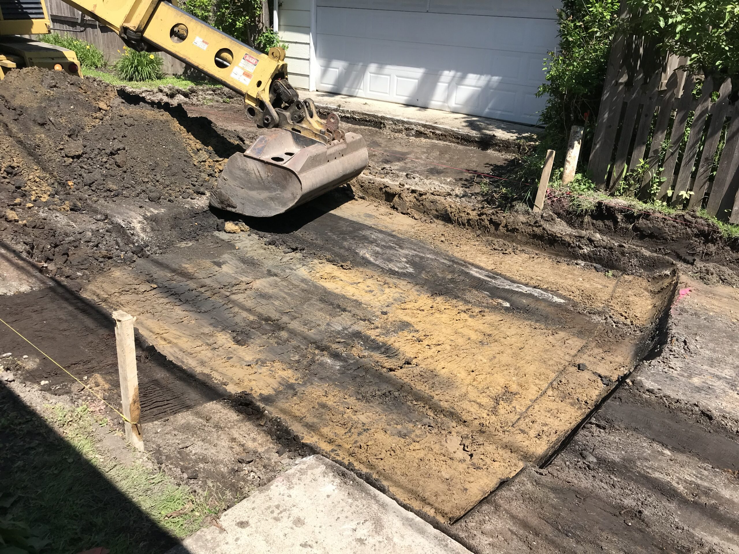 Excavating the Pavement Base