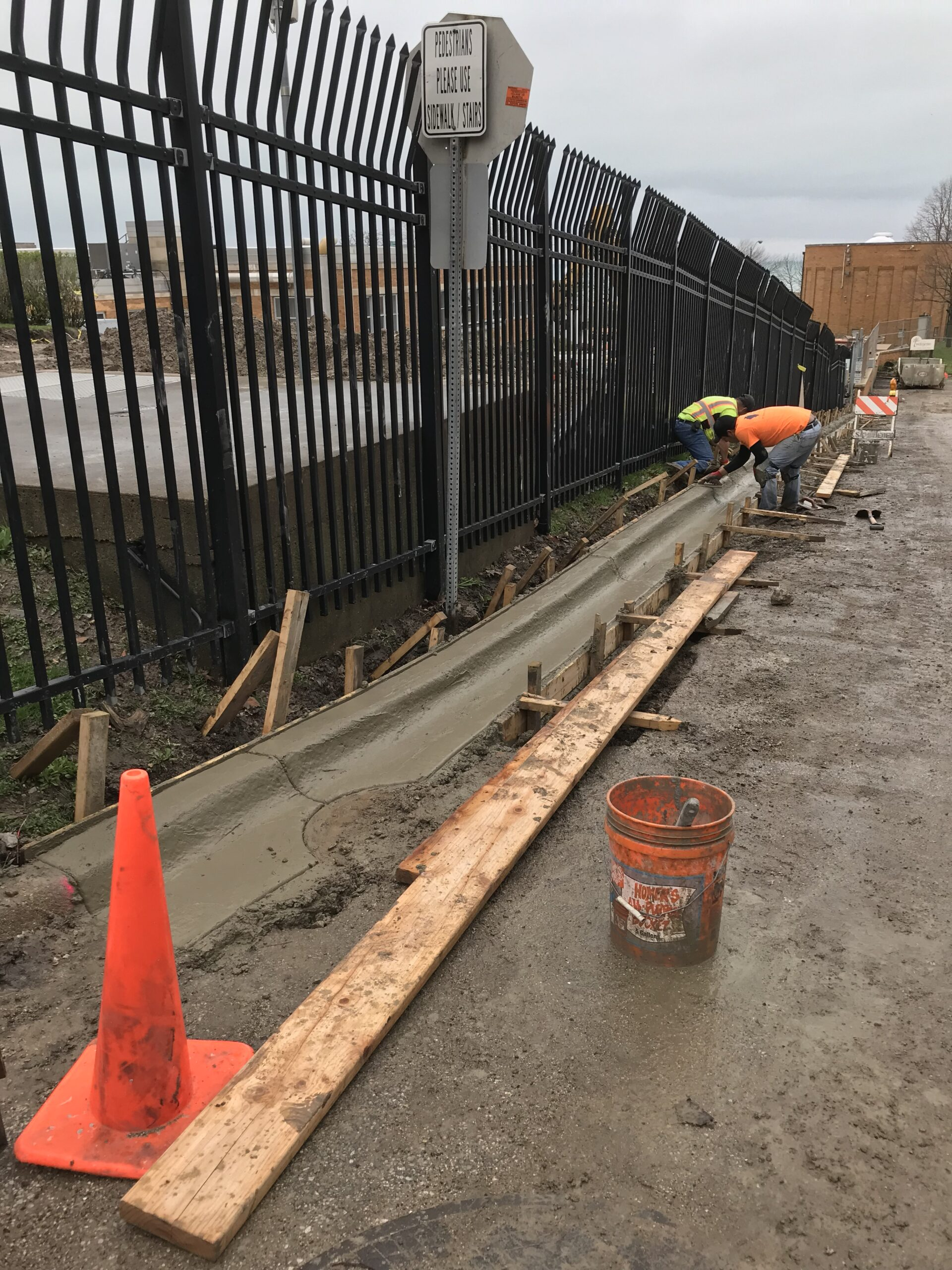 Finishing New Curb & Gutter