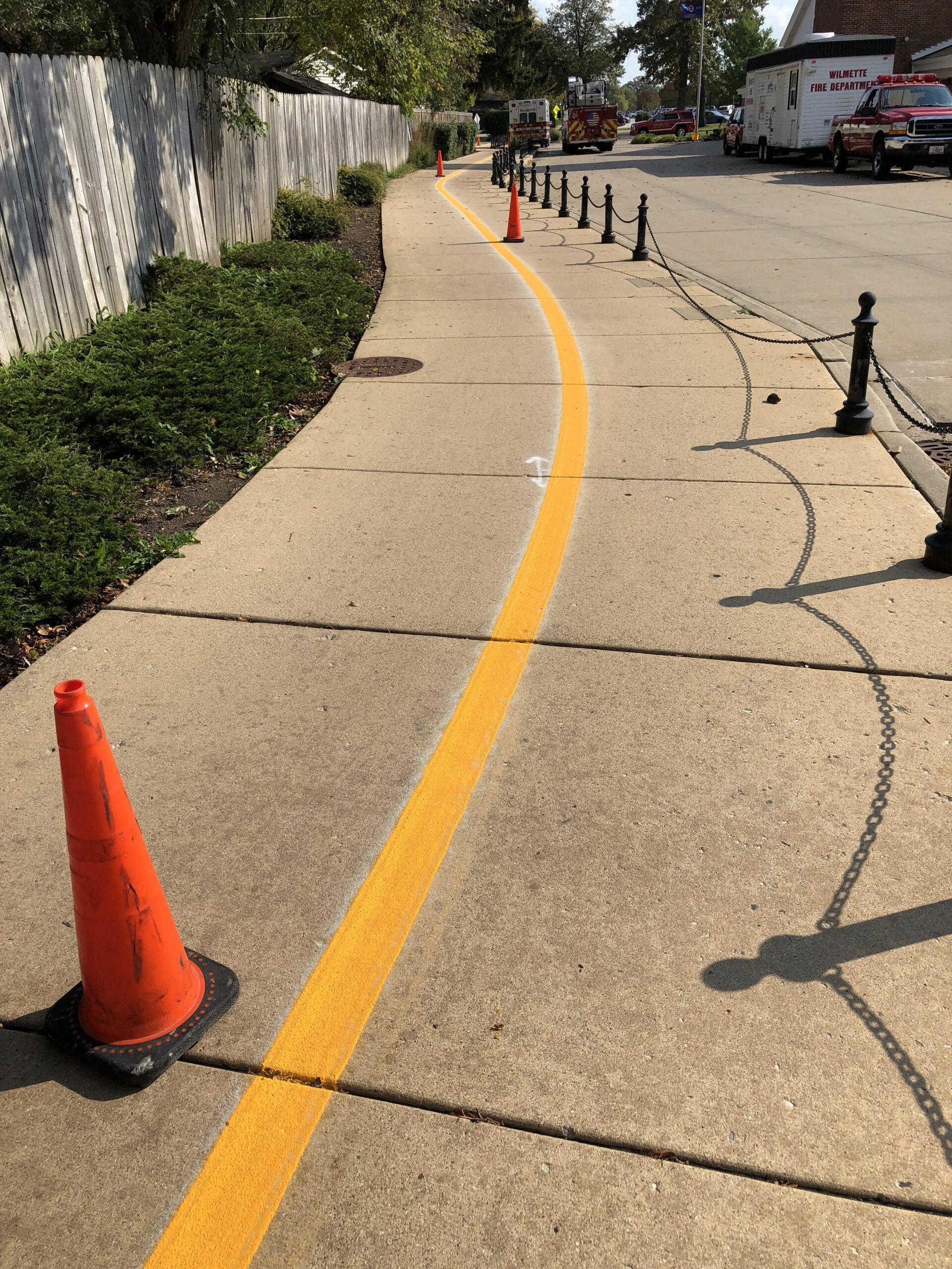 New Pavement Marking - Bike Path