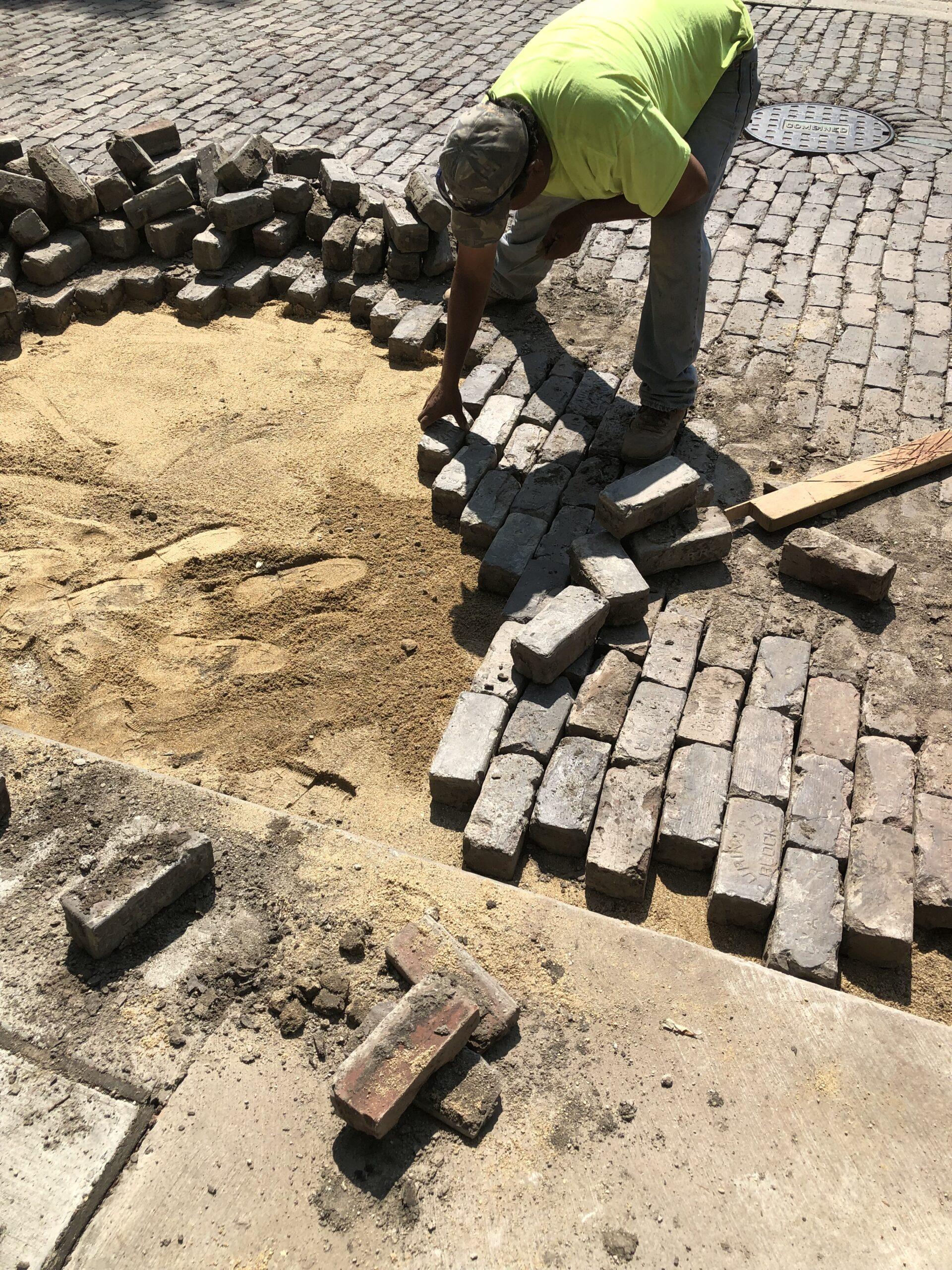 Relaying Brick Pavers