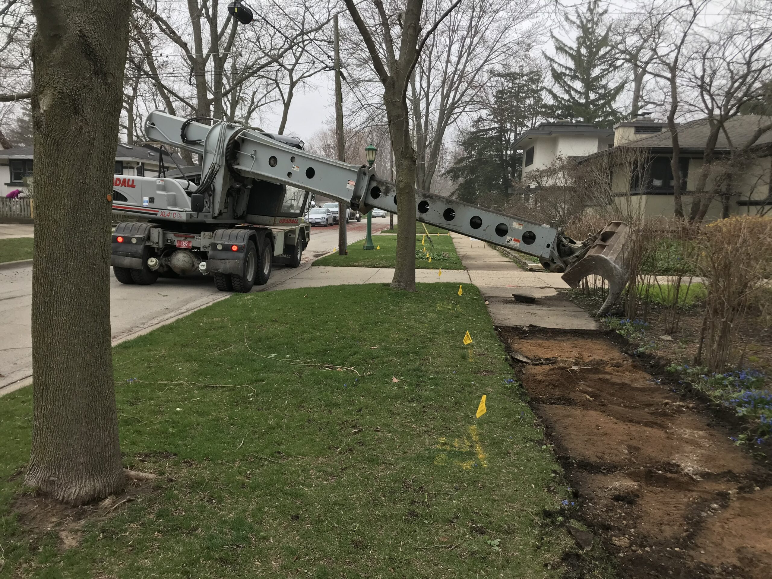 Removing Failed Sidewalk Sections