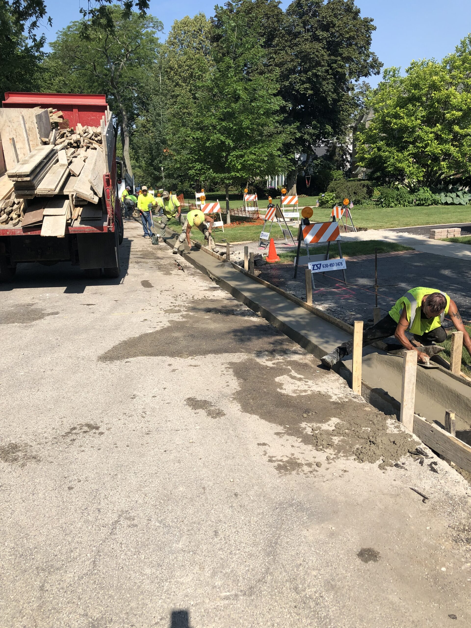 Replacing Concrete Curbs