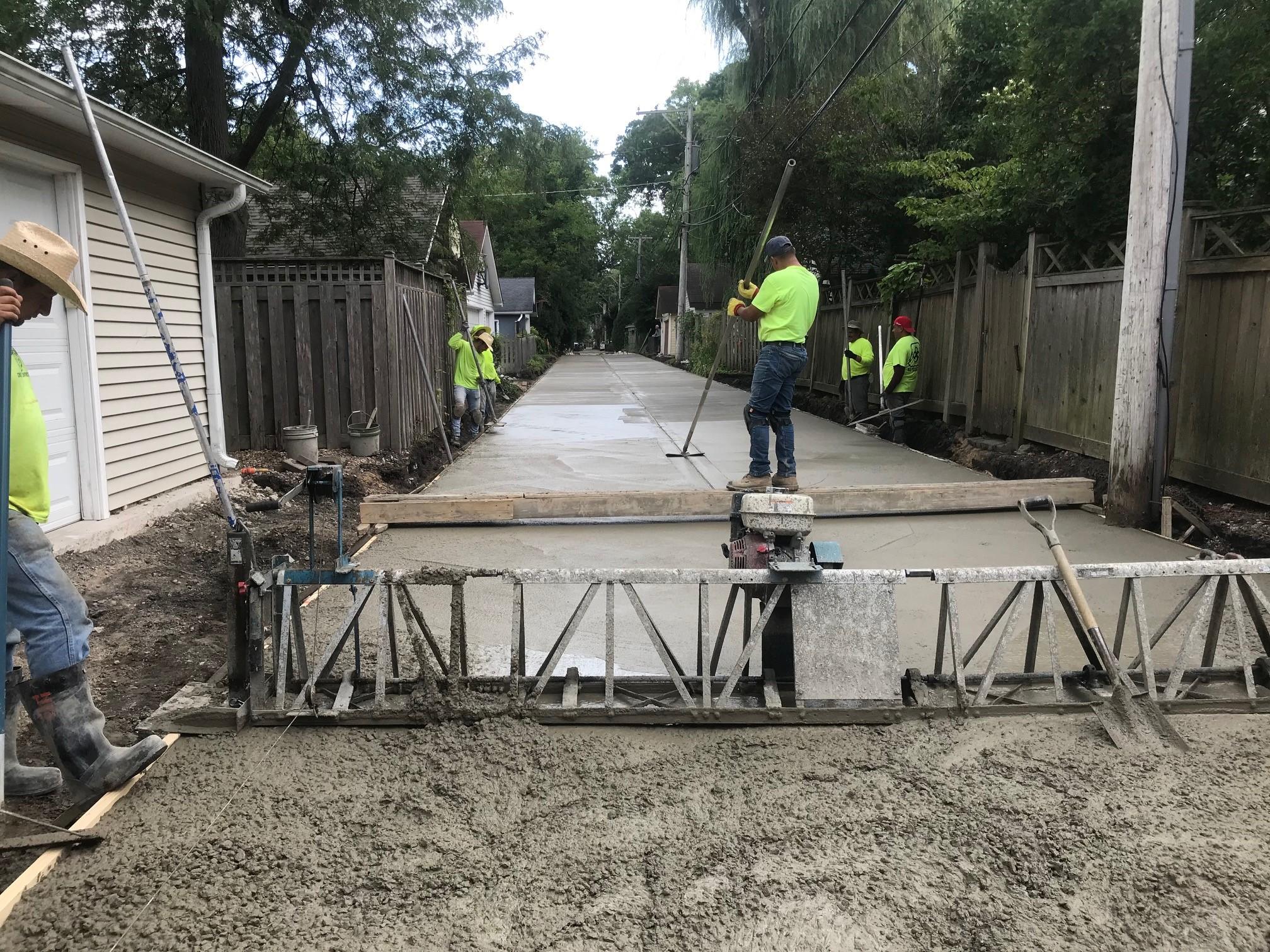 Alley Program - Concrete Pouring